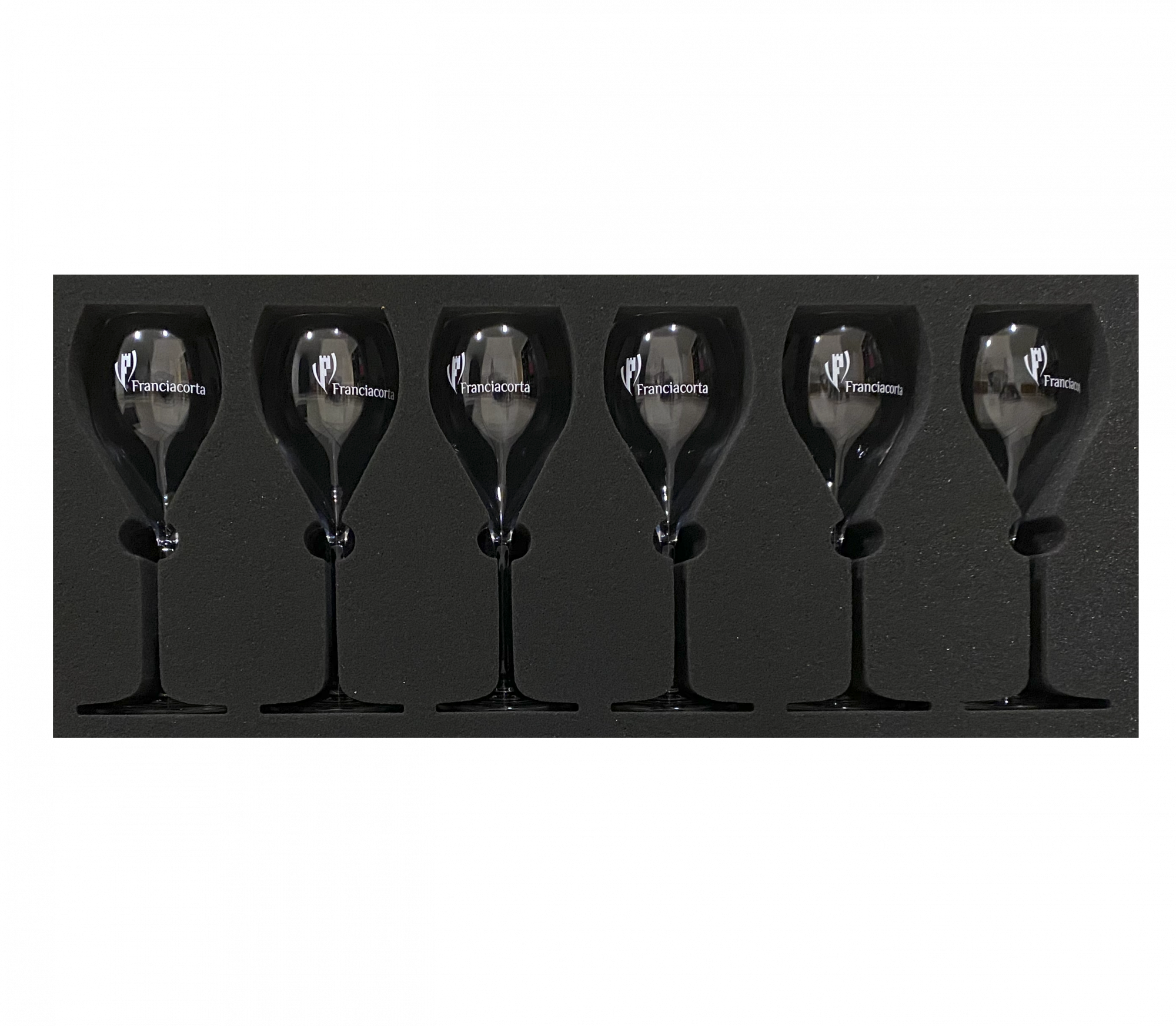 Bicchieri originali Franciacorta con logo ufficiale - imballo Winefranciacorta