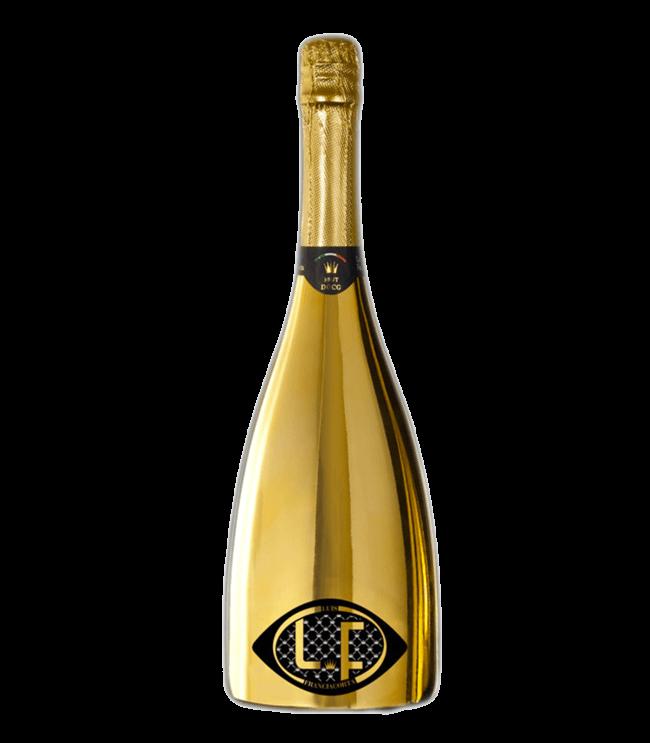 Vino personalizzato: Luis Franciacorta Oro Giallo con scritta personalizzata